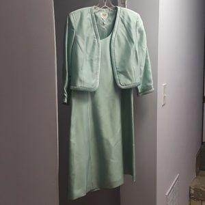 TALBOTS silk dress w jacket